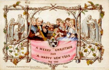 One of the first Christmas Greeting Card's by John Horsley