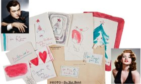 Orson Welles hand-drawn Christmas cards to his then-wife Rita Hayworth.