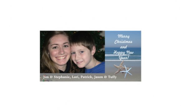 Beach Christmas photo cards