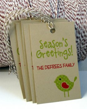 Personalized Holiday Tags