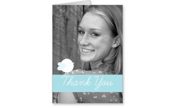 Baby Thank you Cards with Photo insert