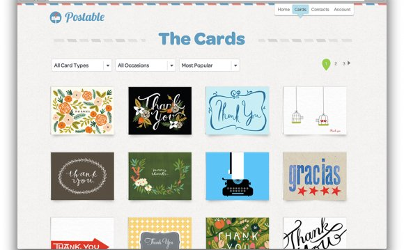 Send Thank you Cards online