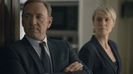 President Frank Underwood (Kevin Spacey) and First Lady Claire Underwood (Robin Wright), courtesy Netflix