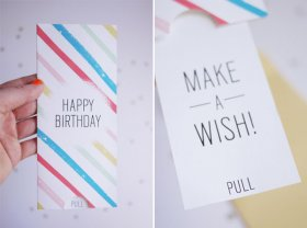 Printable Birthday Pull-Card | Oh Happy Day!