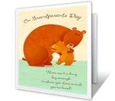 Sending a Hug greeting card