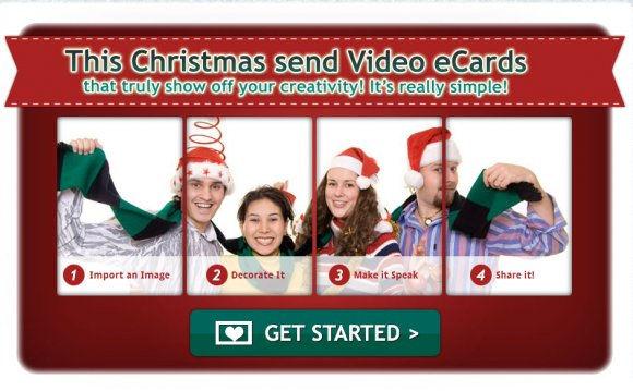 Electronic animated Christmas cards