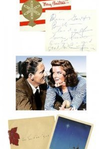 Spencer Tracy and Katherine Hepburn may have been in love and together for a long time but they sent out separate cards - he never divorced his wife.
