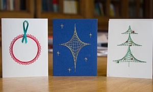 String theory: a bauble, a star and a Christmas tree.