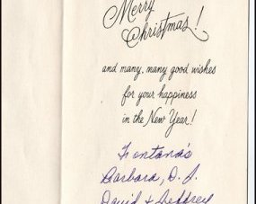 This card is signed from the Fontana family.