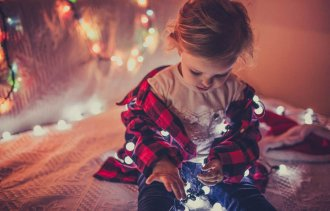 This no-frills photo is perfectly sweet for the holidays. Let our Christmas photo ideas inspire you this year.