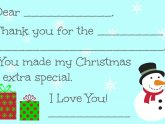Christmas Thank you Cards templates