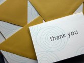 Folded Thank you Cards