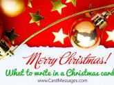 Greeting card Sayings for Christmas