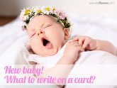 Greeting cards message for New Baby