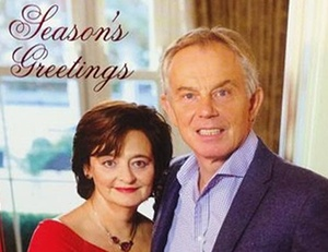 Tony and Cherie Blair's Christmas card 2014
