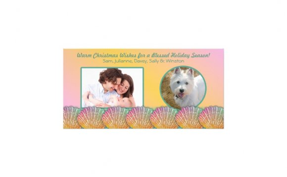 Tropical Holiday Photo Cards