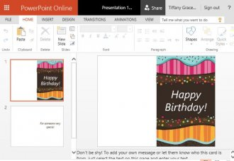 Vibrant and Festive Birthday Card Template for PowerPoint