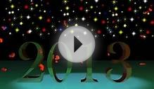2013 New Year Greetings With Fireworks ! 3D animated New