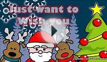 Animated Christmas greeting cards, santa claus, wish you