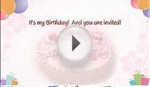 Birthday Invite!