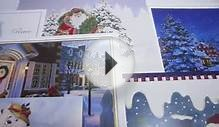 Boxed Christmas Cards w/ Merry Holiday Greetings