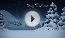Christmas Santa, Logo or Photo and Greeting Card, 3D Animation