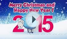 Christmas Sheep Greetings 2015 New Year Card