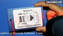 Create and print ISBN book barcode