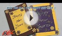 DIY Punch Craft New year Greeting Card (School Project for
