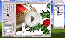 Gimp Basic Christmas Card Tutorial, Inserting text