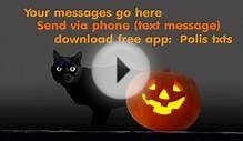 HALLOWEEN BLACK CAT ECARD TEXT MESSAGE MMS