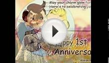Happy 1st wedding Anniversary Greetings card/Video