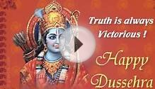 Happy Dussehra 2015 Wishes, SMS, Greetings, Ecards, Msg