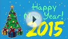 Happy New Year 2015 - animation greeting card footage