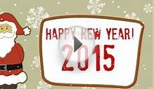Happy New Year 2015 animation greeting card footage