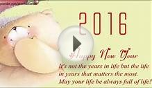 Happy New Year 2016 - New Year Video Greeting & E-card