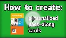 How to create PERSONAL Mormon.org cards: (3/3)