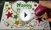 How To Make Handmade Cards - New Year Card