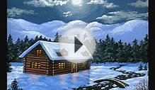 How to Paint Christmas Cards 1 painting art Mountain Cabin