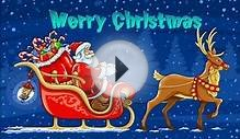 Merry Christmas Animated Greeting Card Wishes,Santa claus