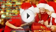 Merry Christmas Card Greeting Messages