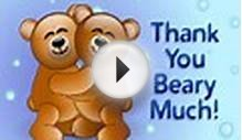 MyFunCards | Beary Thanks - Send Free Thank You eCards
