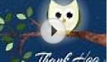 MyFunCards | Thank Hoo Owl - Send Free Thank You eCards