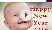 New Year 2015 Greeting Cards with Cute Babies