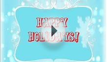 Online Video Holiday E-Card Sample