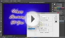 Photoshop - Create Happy Birthday Greetings Card