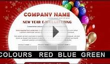 Preview New Year Greetings / Birthday Greetings - 3 COLORs