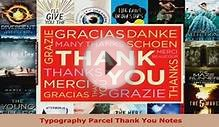 Read Typography Parcel Thank You Notes Ebook Free